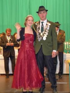 Jungschützenkönig Dennis Beurer und Königin Natascha