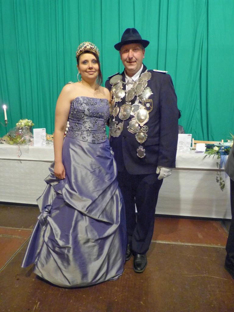 Regimentskönig Klaus Jordan und Königin Stephanie